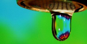 Rainbow Water Droplet