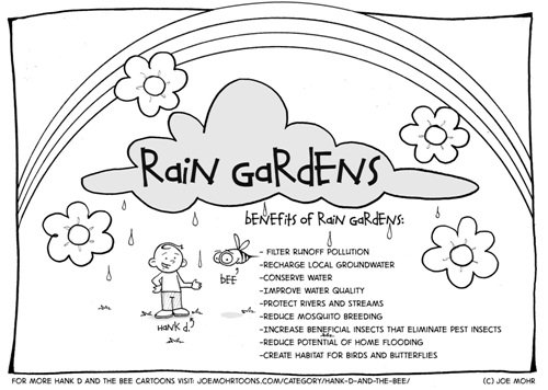 Hank D and the Bee Rain Garden Coloring Sheet