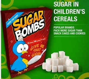 sugar in children's cereals