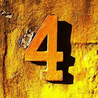 yellow number four