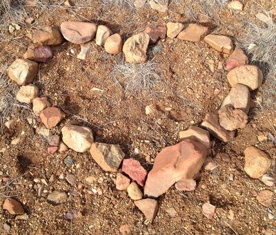 heart rocks altar
