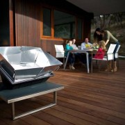 This portable solar oven offers lightweight, zero-carbon cooking