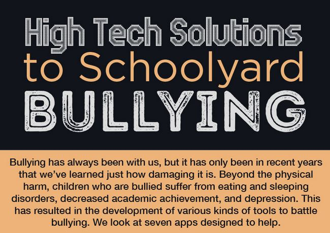 Schoolyard Bullying: 7 High Tech Solutions