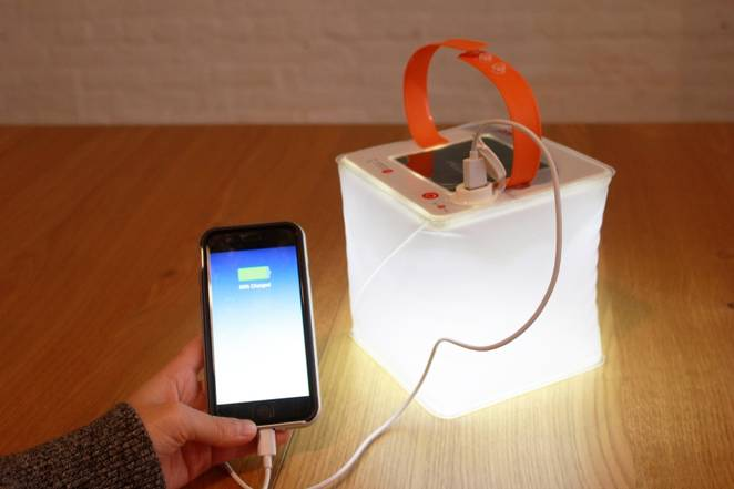 LuminAID's inflatable waterproof solar lantern can also charge your phone