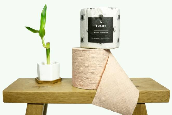 "Tushy's new bamboo toilet paper is a ""sustainable poo-solution"""